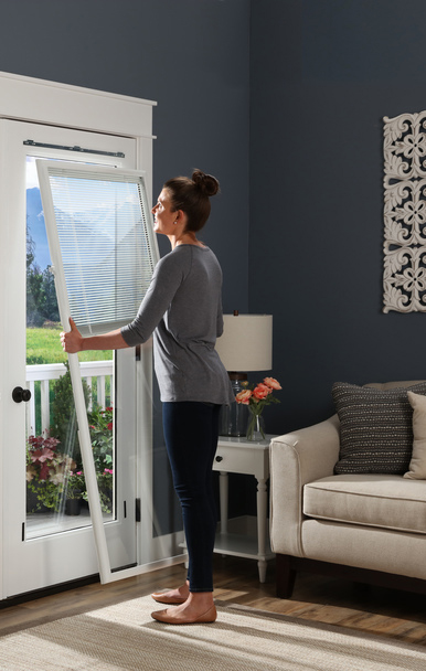 Odl Canada Doorglass Products Enclosed Blinds Add On Door Blinds