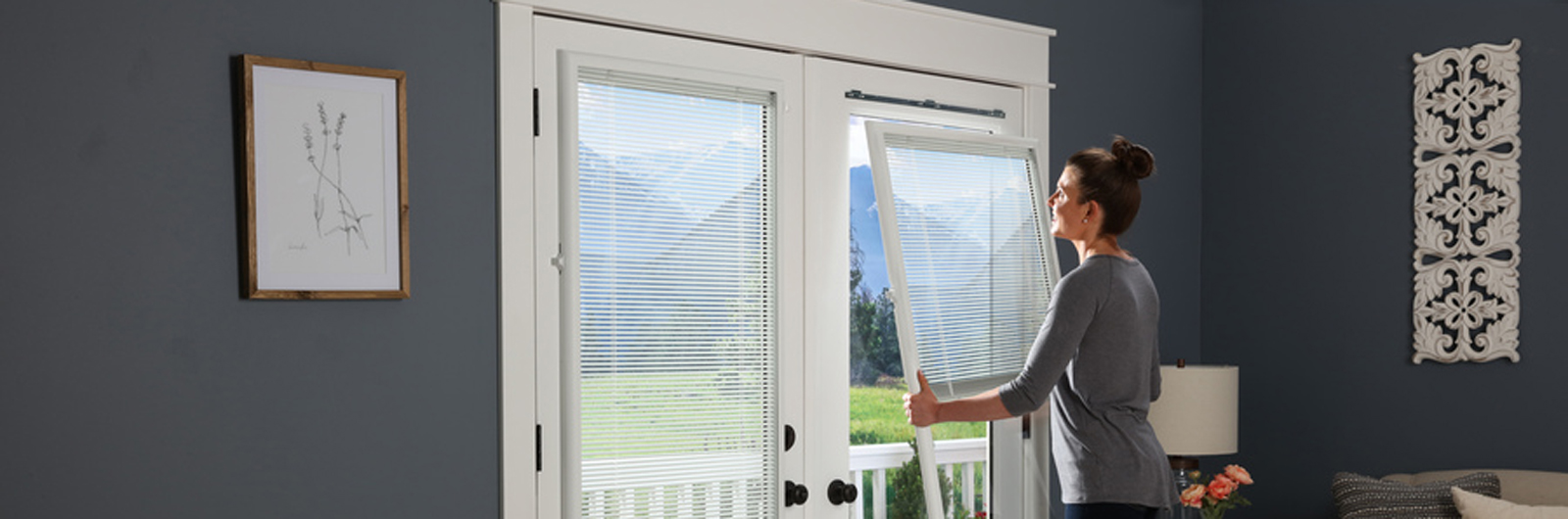 odl light touch enclosed blinds - Blinds For Patio Doors