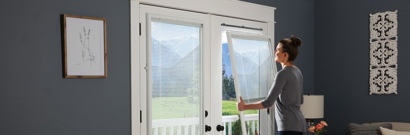 Patio Doors With Built In Blinds odl enclosed blinds, add-on blinds built in, patio door blinds