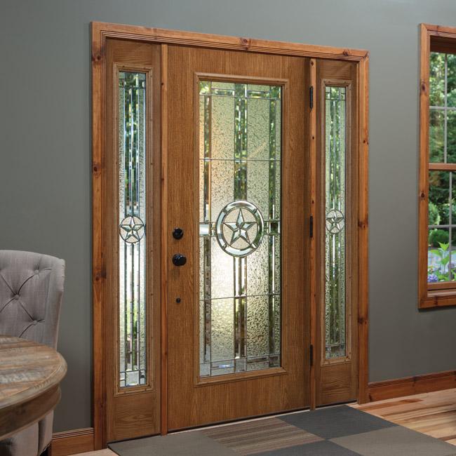 ODL decorative door glass: Elegant Star Wrought Iron door