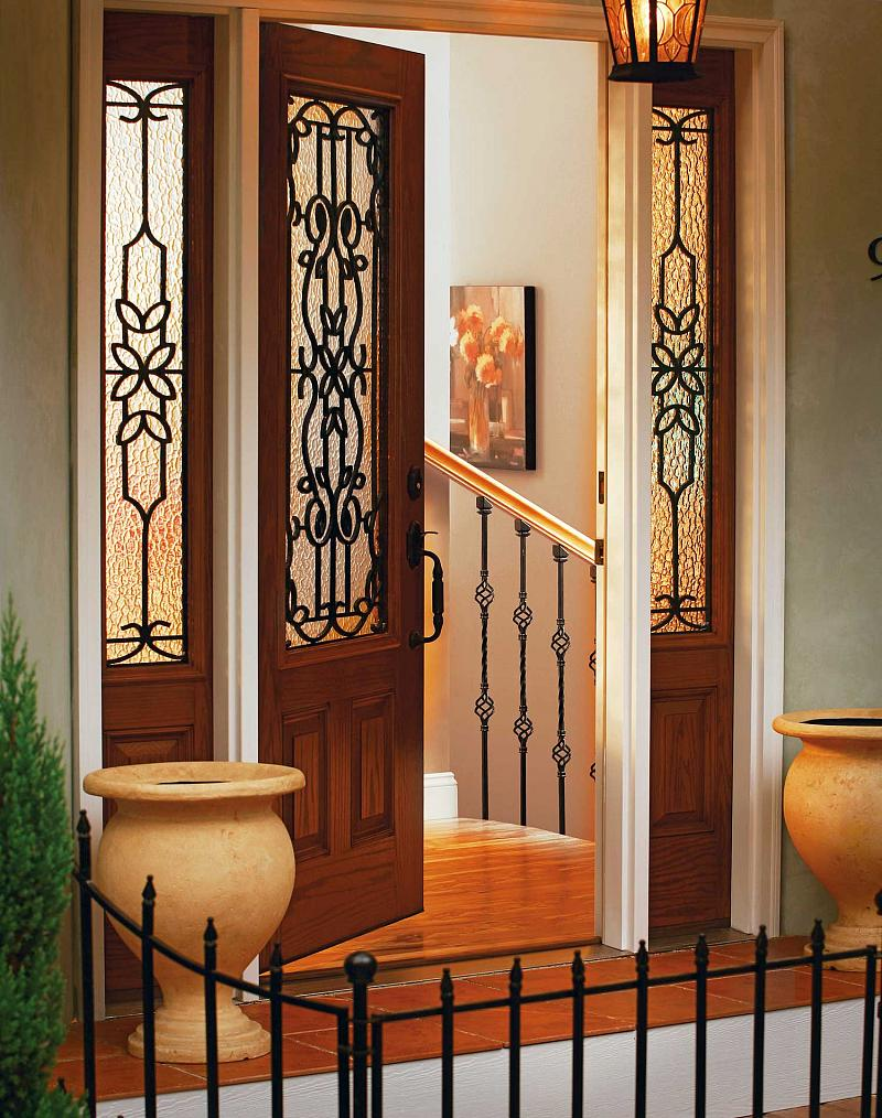 decorative door glass front entry doors